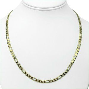 Jewelry - 14k Gold Solid 4mm Figaro Link Chain Necklace 20""